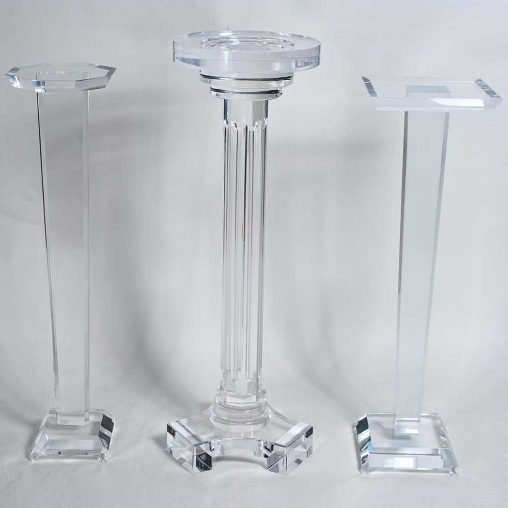 waterfall tall pedestals displays acrylic product buy bulk pedestal