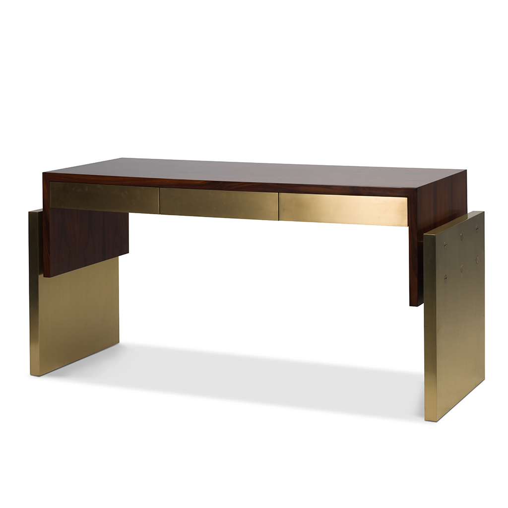 Contemporary three drawer console table