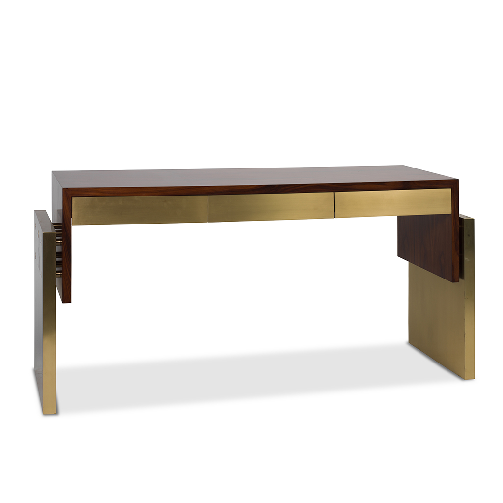 Contemporary Three Drawer Console Table Deaurora Showroom